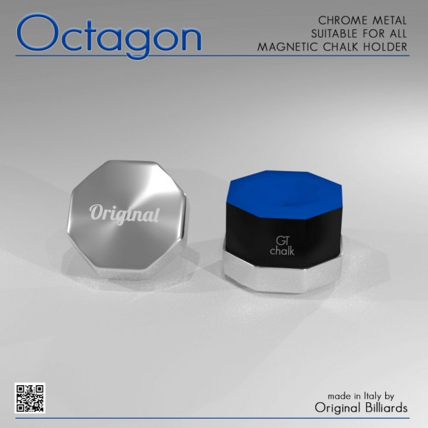 CHROME OCTAGON CHALK HOLDER