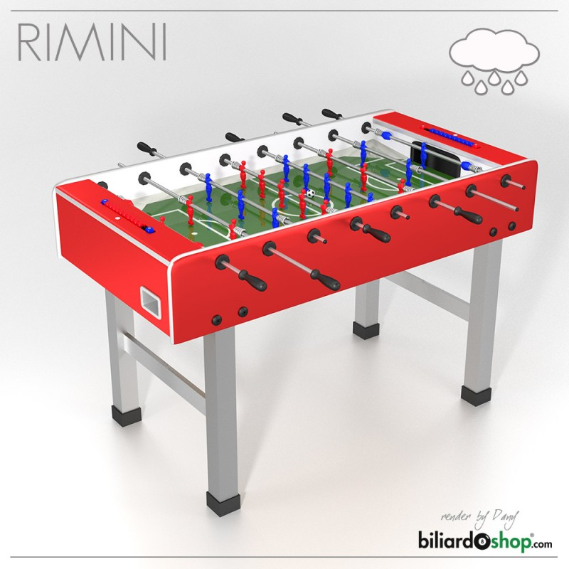 Weatherproof Ping Pong Table Home Foosball table Outdoor soccer table SOCCER TABLE MOD.RIMINI RED ...
