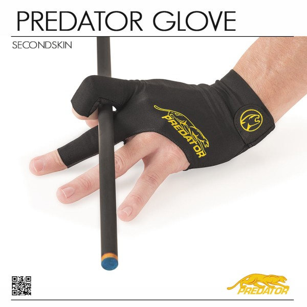 POOL CUE GLOVE PREDATOR SECOND SKIN YELLOW